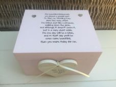Shabby Personalised Chic Bridesmaid Maid Of Honour Wedding Keepsake Gift Box - 332097327121